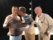 Lahey says to my friend why dont you lean in and give him a little kisseypoo on the cheek - October