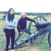 Larry David took his daughter to a civil war battlefield