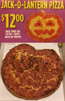 Last Halloween I got a Jack-O-Lantern pizza from Papa Johns