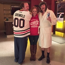 Last night our local theatre showed Christmas Vacation Me and my parents were the only ones who dressed up