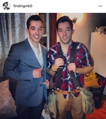 Last year for Halloween we didnt want to spend money on costumes so we went as the Property Brothers