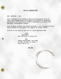 Leaked script for Ash vs Walking Dead courtesy of Bruce Campbells Facebook page