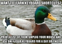 Learn your keyboard shortcutsfast