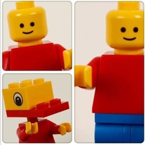 LEGO Man practicing his selfies the duckface