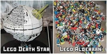 LEGO Starwars Deathstar and Alderaan
