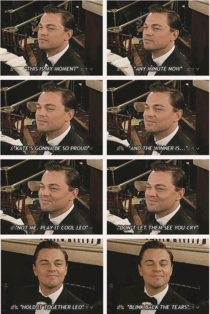 Leonardo DiCaprio at the this moment again