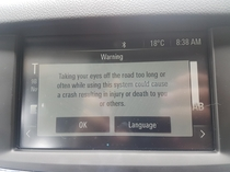 Let me just read this long message while Im drivingthanks car