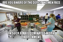 Lets talk about gender equality and the US Post Office