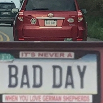 License plate gets better the closer you get
