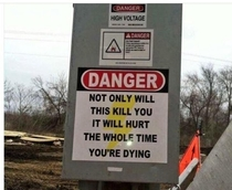 Lifes warning label
