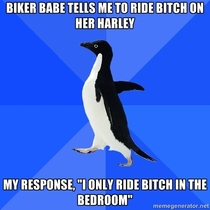 Like a boss of biker babes