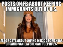Likes Mexicans as long as they make cheap stuff she can buy
