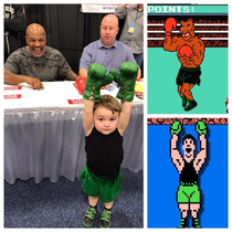 lil Mac from punch-out met mike Tyson today How adorable