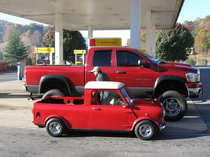 lil red truck and big red truck