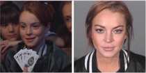 Lindsay Lohan wore the same jacket in her mugshot as she did in a scene from the Parent Trap
