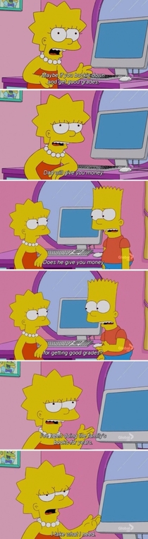 Lisa does what she needs to