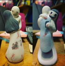 Little girl who painted this cake topper has a great sense oflifemarriage