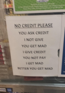 Local Indian owned convenient store keeping it real