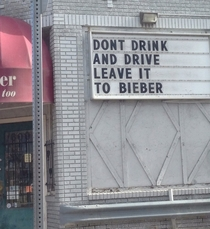 Local liquor store is not a fan of the Biebs