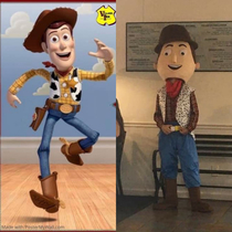 Local pizzeria tried to have a Woody from Toy Story pizza night My nephew now has nightmares