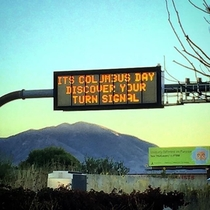 Local traffic sign getting a little snappy
