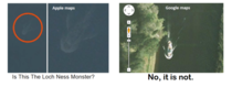 Loch Ness monster on Apple maps got debunked quickly