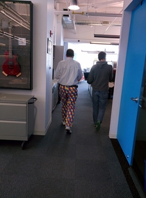 Look what this clown wore to work today