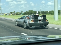 Looks like doc brown is heading back to the future