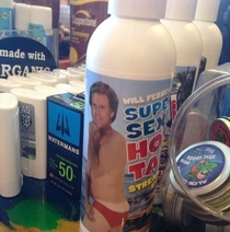 Looks like Will Ferrell is in to sunscreen now Super Sexy Hot sunscreen