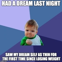 Lost  pounds  and have kept it off for  months so far Last night was a huge mental accomplishment for me