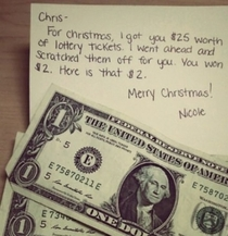 Lottery scratch tickets make good last minute Christmas gifts