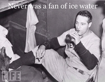 Lou Gehrig on ice water