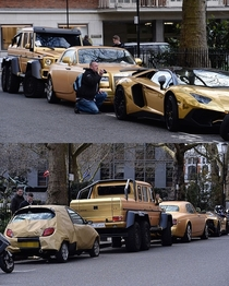 Luxury gold cars