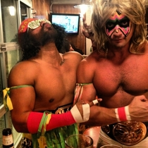 Macho Manself and Ultimate Warrior Halloween Howd we do