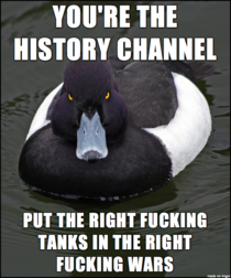 Mad Advice Mallard after seeing the History Channels The World Wars opener