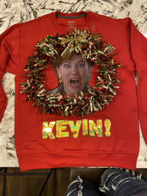 Made this for my ugly sweater party