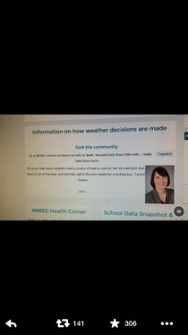 Madison Wisconsin area schools almost never close no matter the winter conditions looks like someone hacked the district website in protest