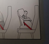 Man-face-baby flight safety rules