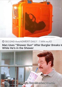 Man uses shower gun its very effective