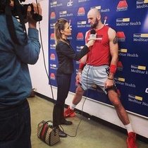 Marcin Gortat Washington Wizards during interview