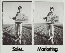 Marketings purpose is to make Sales obsolete and vice versa