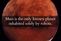 Mars is the only planet