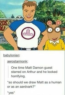 Matt Damon on Arthur