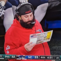 Matt Patricia looks like he cant decide between the southwestern egg rolls mozzarella sticks or fried calamari Then again the sampler looks pretty good too