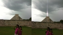 Mayan Pyramid Fires Energy Beam Into the Sky or iPhone Sensor Glitch YOU PICK