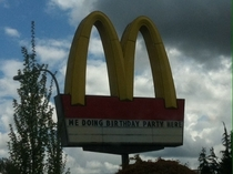 McDonalds by my house Every time I read it its with an accent