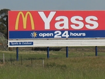 Mcdonalds in the town of Yass in Australia