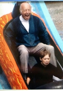 Me and my grandad enjoying the log ride
