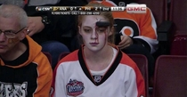 Meanwhile at last nights Philadelphia Flyers game