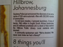 Meanwhile in Johannesburg